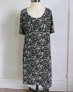 Motherhood Maternity Black Floral Nursing Dress